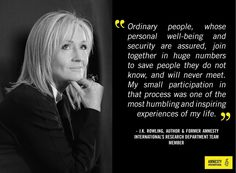 Join Amnesty alums like #JKRowling uniting people worldwide to fight for…