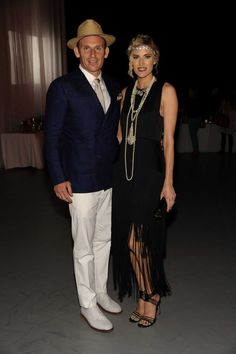 Josh and Kristin Taekman attend the 1930s cabaret party Speakeasy Moderne at East Hampton Studio.  (June 14th, 2013)