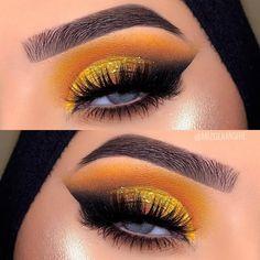 Perfect Makeup, Cute Makeup, Simple Makeup, Rose Gold Elixir, Makeup Crafts, Yellow Eyeshadow, Crazy Eyes, Makeup Guide, Christmas Makeup