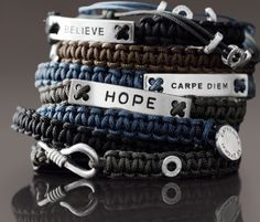 Hope, Believe Bracelet made from parachute cord..Cute.