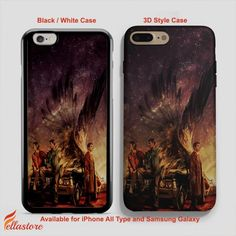 nice Supernatural Wings Painting iPhone 7-7 Plus Case, iPhone 6-6S Plus, iPhone 5 5S SE, Samsung Galaxy S8 S7 S6 Cases and Other