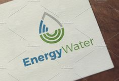 Energy Water | logo Template by REDVY on @creativemarket