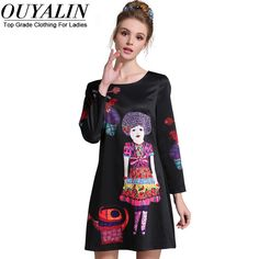 L- 5XL Pattern Beading Autumn Dress Long Sleeve O neck Slim Fit Short Black Vestidos Femme Check it out! http://www.artifashion.net/product/l-5xl-pattern-beading-autumn-dress-long-sleeve-o-neck-slim-fit-short-black-vestidos-femme/ #shop #beauty #Woman's fashion #Products