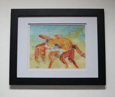 Sally Lightfoot Crab Watercolor Print Crab by SycamoreWoodStudio