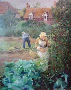 Graham Petley Direct Bean Picking available for inc post & packing. Throughout The World, Impressionist, Graham, Beans, British, Packing, Fine Art, Landscape, Bag Packaging