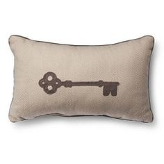 Threshold™ Embroidered Key Toss Pillow - Cream (Oblong)