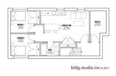 Type: Two Storey Bedrooms: 3 Baths: Legal Secondary Suite Areas: * Basement: 850 sq ft * Floor: 850 sq ft * Floor: ft * Total Living Area: 1649 sq ft Width: Depth: Minimum Lot Width: wide Narrow Lot House Plans, House Floor Plans, Simple House Design, Container House Plans, Micro House, 2nd Floor, Architectural Digest, Living Area, Basement