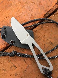Poganka EDC Neck knife Custom made Fixed blade Kydex sheath Buck Knives, Cool Knives, Pocket Knife Brands, Forging Tools, Neck Knife, Kydex Sheath, Plasma Cutting, Tool Steel, Fixed Blade Knife