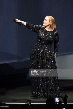 Singer/songwriter Adele performs at Talking Stick Resort Arena on August 16…