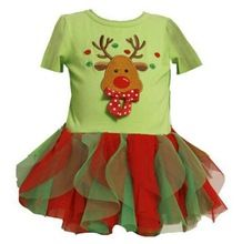 2016 new Baby Girls Christmas Clothing kids Light green Santa Claus tutu dress Party Clothes(China (Mainland))