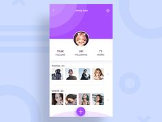 Personal Profile Page by luking #Design Popular #Dribbble #shots