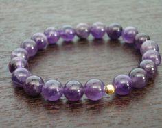 Women's Aquamarine Tassel Mala Bracelet by 5thElementYoga on Etsy