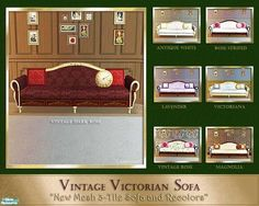 cashcraft's Victorian Inspired Sofa Collection