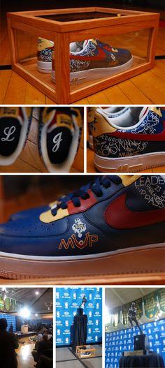 #custom #NIKE #sneakers for LeBron James, 2009 MVP