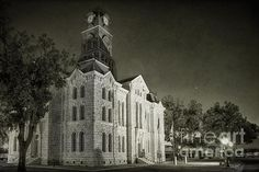 The Hood County Courthouse in Granbury TX USA. To view or purchase my prints, visit joan-carroll.artistwebsites.com iPhone covers can be purchased at joan-carroll.pixels.com THANKS!