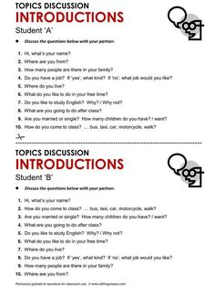 Introductions, English, Learning English, Vocabulary, ESL, English Phrases…
