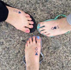 Sister Tattoos on Feet