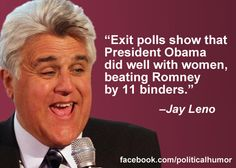 Jay Leno on the 2012 election outcome