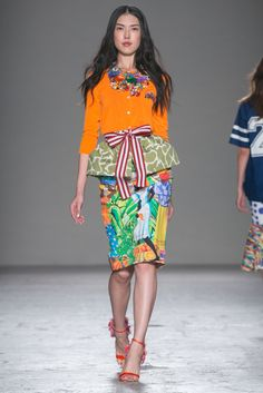 A look from the Stella Jean Spring 2015 RTW collection.
