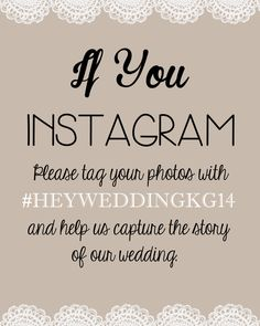 INSTAGRAM Wedding Sign Printable - 8x10 Instagram Sign- Do you Instagram?- Wedding Instagram by TotallyLoveItDesigns on Etsy
