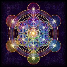 Flower Of Life Sticker Hexagram Metatron's Cube Mandala Sacred Geometry & Garden Art Fractal, Fractals, Psychedelic Art, Arte Chakra, Art Visionnaire, Flower Of Life Symbol, Sacred Geometry Symbols, Magic Symbols, Magic Circle