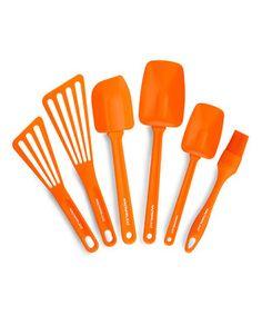 Look what I found on #zulily! Rachael Ray Orange Six-Piece Kitchen Tool Set by Rachael Ray #zulilyfinds