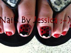 Ladybug Pedicure by Squirt0283 - Nail Art Gallery nailartgallery.nailsmag.com by Nails Magazine www.nailsmag.com #nailart