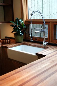 Eric says NO to butcher block counters. But maybe? kitchen countertops by Green Depot