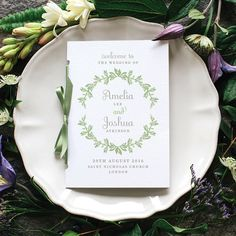 Rustic Botanical Wedding Program / 'Vintage by twoforjoypaper