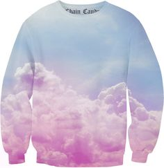 Chain Candy collection of spring 2016. pastel ombre clouds printed on soft cotton & spandex fabric cut & sewn into a oversized sweatshirt. Handmade in NYC, please allow 1-4 weeks for your garment to b