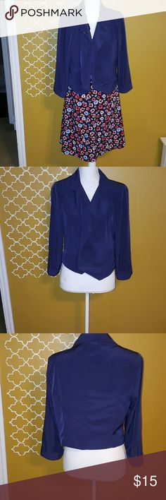 Forever 21 blue short blazer Long sleeved thin short blazer Forever 21 Jackets & Coats Blazers