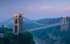 Spanning Avon Gorge in Bristol is the Clifton Suspension Bridge, a Grade I listed bridge designed by Isambard Kingdom Brunel. Sadly, he died five years before its completion, but the bridge went on to become one of Bristol's most recognisable landmarks.  Picture: David Noton Photography / Alamy