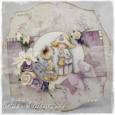 Romance at The Ribbon Girls Lovely Lili Challenge - Cards By Becky