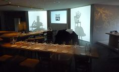'Camera obscura' presentation during lunch in Restaurant AS