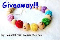 Giveaway - rainbow necklace with hearts!!!! **** Розыгрыш конфетки - радужное ожерелье с сердцами!!!! Giveaway, Crochet Necklace, Crochet Collar