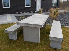 Sitzgruppe aus Beton