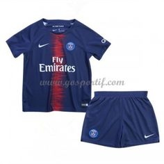 Paris Saint Germain PSG maillot de foot enfant 2018-19 maillot domicile Psg, Maillot Paris Saint Germain, Football Kits, Saints, Trunks, Swimwear, Modern, Soccer Jerseys, Gera