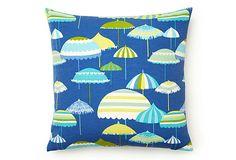 Umbrella 17x17 Outdoor Pillow, Blue on OneKingsLane.com