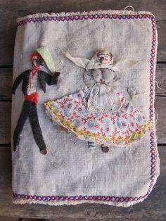 handmade linen bookcover