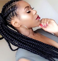 This braided ponytail is so beautiful @mlkendeck ❤️#voiceofhair ========================== Go to VoiceOfHair.com ========================= Find hairstyles and hair tips! =========================