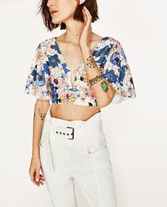 Image 5 of PRINTED CROP TOP from Zara