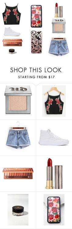 """roses are red..."" by beccaxoxostyles ❤ liked on Polyvore featuring Urban Decay, Vans, Anastasia, Wildflower and Casetify"