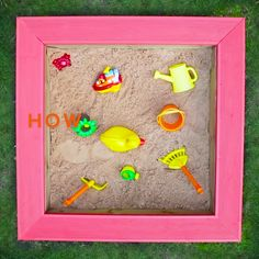 Keep the kids occupied this summer with this DIY child's sandpit. It's a great DIY project to use up any leftover garden decking joists.