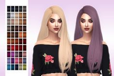 Frost Sims 4: Simpliciaty`s Melody hair retextured - Sims 4 Hairs - http://sims4hairs.com/frost-sims-4-simpliciatys-melody-hair-retextured/