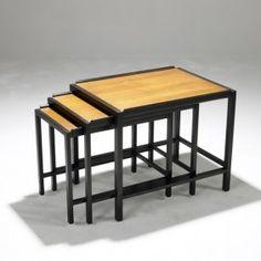 EDWARD WORMLEY; DUNBAR; Set of three nesting tables
