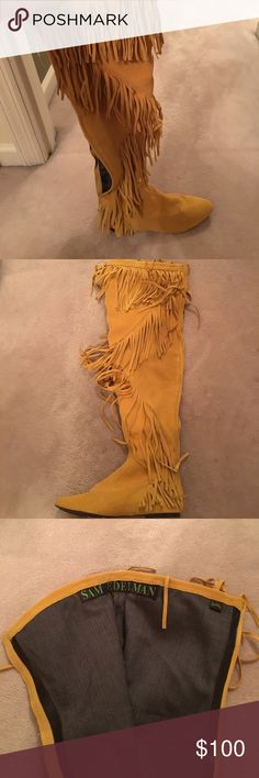 Sam Edelman Fringe Over the knee boots The cutest fringe over the knee boots you have ever seen! Never been worn, brand new and perfect condition! Size 9 but I wear an 8 and they fit me with socks! So cute for the summer time, Taking offers Sam Edelman Shoes Over the Knee Boots