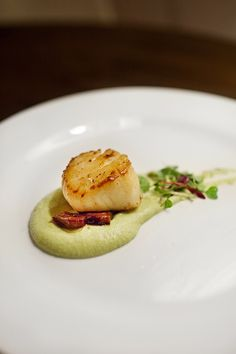 Seared Scallop with Yuzu Edamame Puree | eatdrinknbmerry.blo… | Flickr