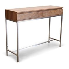 The Gingko Soho Console Table provides a simple, streamlined display and storage center to expand the functionality of your living room. Storage Center, Small Living Room Chairs, Balcony Table And Chairs, Wooden Tops, Solid Wood Furniture, Egg Chair, Wood And Metal, Entryway Tables, Console Tables