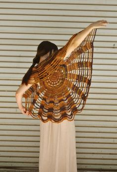 Harvest Sky Spider Web Circle Vest / Mandala Shawl by retrotimbre, $65.00 - Inspiration for Bethany's costume