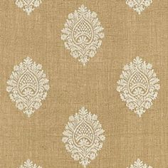 Savanna Jute Embroidery Jute Fabric by Schumacher Pattern# 67340 View this product plus Memo's available always. First Quality direct from manufacturer. Family owned since 1971 Textile Fabrics, Textile Patterns, Textile Design, Fabric Design, Print Patterns, Jute Fabric, Fabric Decor, Fabric Wallpaper, Pattern Wallpaper